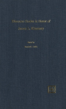 Discourse Studies In Honor Of James L. Kinneavy