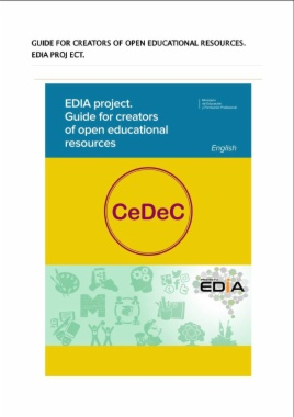 EDIA project. Guide for creators of open educational resources