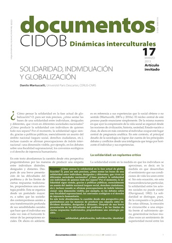 Documentos CIDOB : Dinámicas interculturales